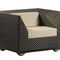 contemporary armchair / synthetic fiber / with removable cushion / standard base