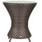 contemporary bistro table / synthetic fiber / lacquered aluminum base / round
