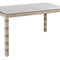 contemporary dining table / glass / synthetic fiber / synthetic fiber base