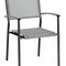 contemporary dining chair / with armrests / standard base / stacking