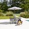 mild steel patio umbrella / orientable