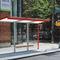 galvanized steel bus shelter