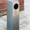 public trash can / stainless steel / galvanized steel / with built-in ashtray