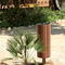 public trash can / stainless steel / galvanized steel / wooden