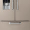 double door refrigerator / with drawer / stainless steel / energy-efficient