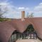 flat roof tile / clay / double