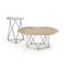 contemporary side table / steel / round
