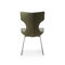 contemporary chair / sled base / fabric / leather