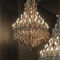 traditional chandelier / glass