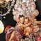 Baroque style chandelier / blown glass