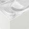 contemporary coffee table / glass / square / by Studio Nendo