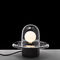 pendant lamp / industrial design / glass / stainless steel