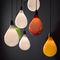 pendant lamp / contemporary / blown glass / LED