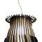 pendant lamp / original design / steel / polished brass