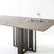 contemporary dining table / wooden / marble / metal base