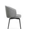 contemporary chair / fabric / leather / metal