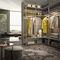 corner walk-in wardrobe / modular / contemporary / brass