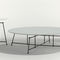 contemporary coffee table / wooden / matte lacquered wood / steel
