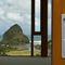 lift-and-slide patio door / wooden / aluminum / double-glazed