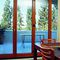 sliding and stacking patio door / folding / wooden / double-glazed