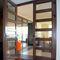 swing French door / wooden