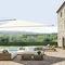 offset patio umbrella / commercial / fabric / aluminum