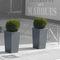 fiber cement planter / square / custom / contemporary