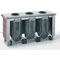 hygienic trash can / floor-standing / stainless steel / recycling