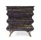 New Baroque design chest of drawers / varnished wood / wood with gold leaf finish