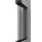 entry door / swing / aluminum / thermally-insulated