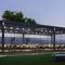 bioclimatic pergola / self-supporting / aluminum / sun shade louvers