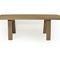 contemporary dining table / oak / rectangular / garden