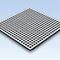 concrete raised access floor / steel / indoor / perforated