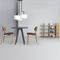 contemporary chair / upholstered / oak / American walnut