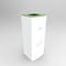 public trash can / galvanized steel / painted metal / contemporary