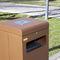 public trash can / metal / for public spaces