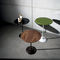 contemporary side table / glass / lacquered metal / chromed metal