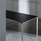 contemporary dining table / wooden / tempered glass / lacquered glass