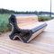 public bench / traditional / oak / metal