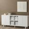 low filing cabinet / oak / with drawers / contemporary