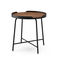 contemporary side table / American walnut / brass / HPL