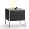 contemporary bedside table / oak / wood veneer / lacquered MDF