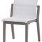 contemporary garden chair / stackable / high back / teak