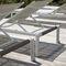 contemporary sun lounger / teak / aluminum / PVC
