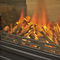 electric heating stove / traditional / metal