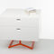 contemporary bedside table / lacquered wood / MDF / glossy lacquered wood