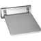 folding shower seat / wall-mounted / aluminum / commercial