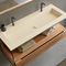 composite vanity top / custom / with towel rack