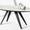 contemporary dining table / wooden / oval