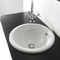built-in washbasin / round / ceramic / contemporary